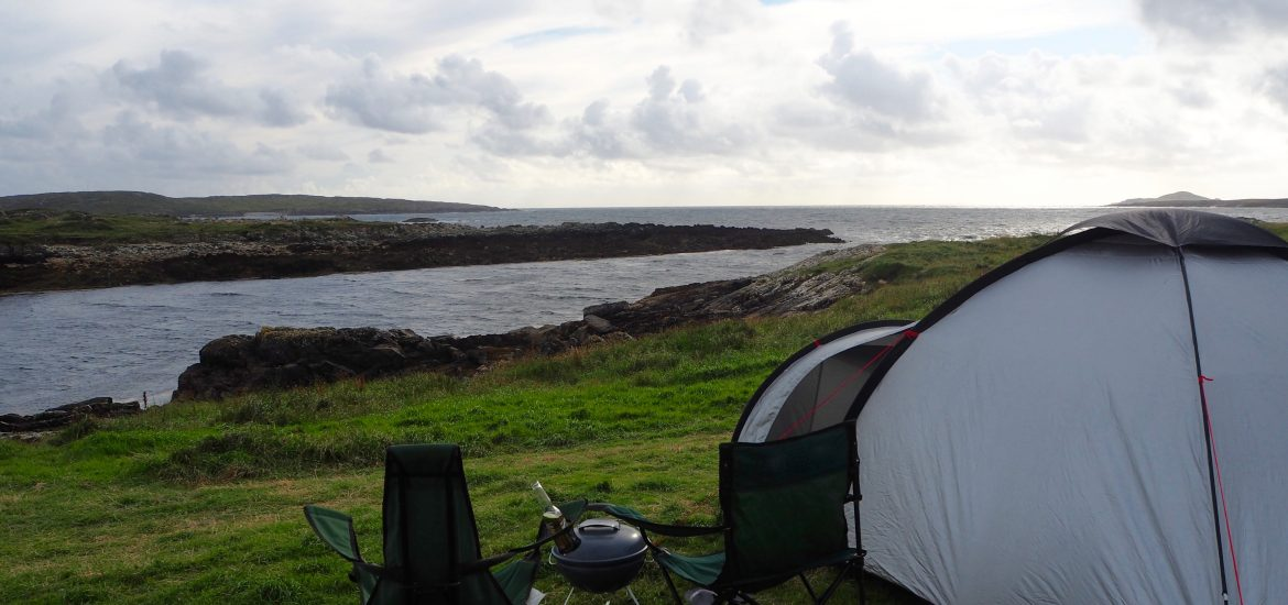 Clifden Eco Beach campsite view of the sea